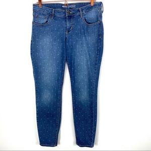 Old Navy Rockstar Star Pint Skinny Jeans Size 14